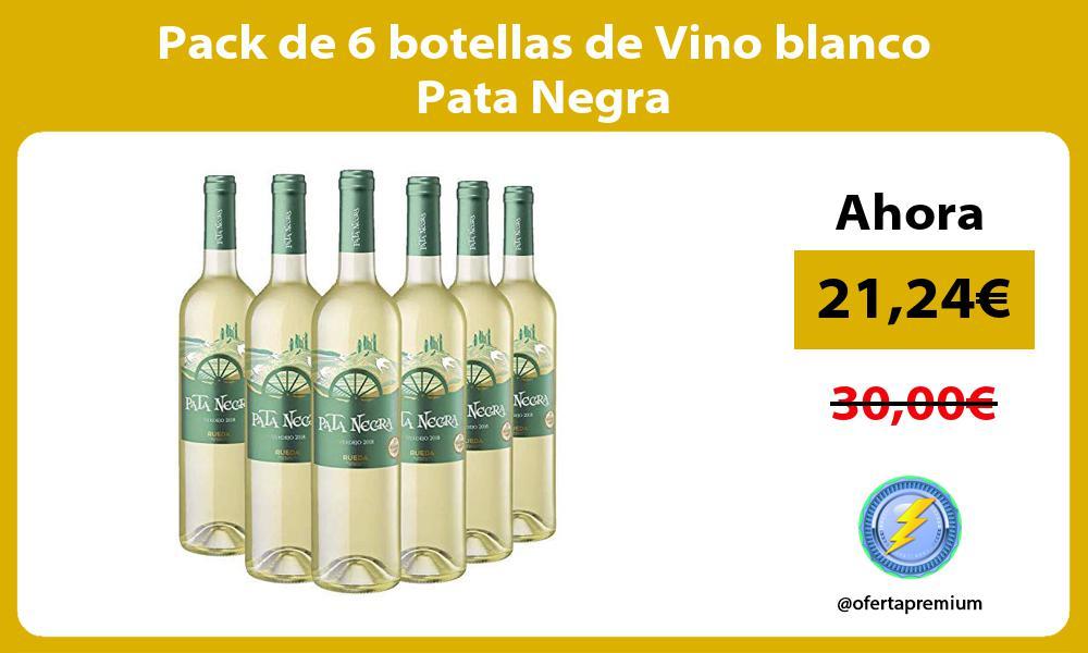 Pack de 6 botellas de Vino blanco Pata Negra