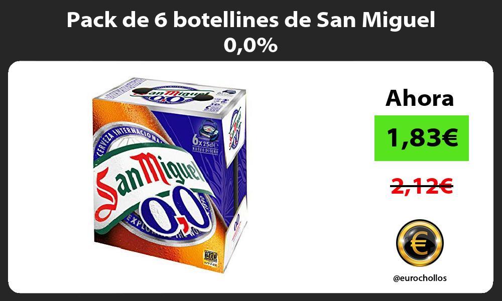 Pack de 6 botellines de San Miguel 00