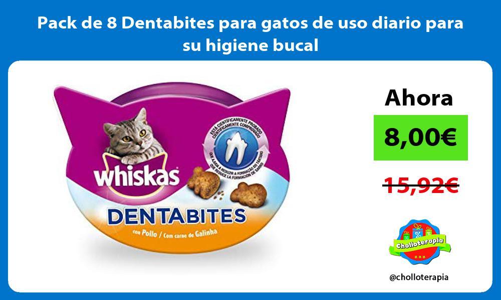Pack de 8 Dentabites para gatos de uso diario para su higiene bucal