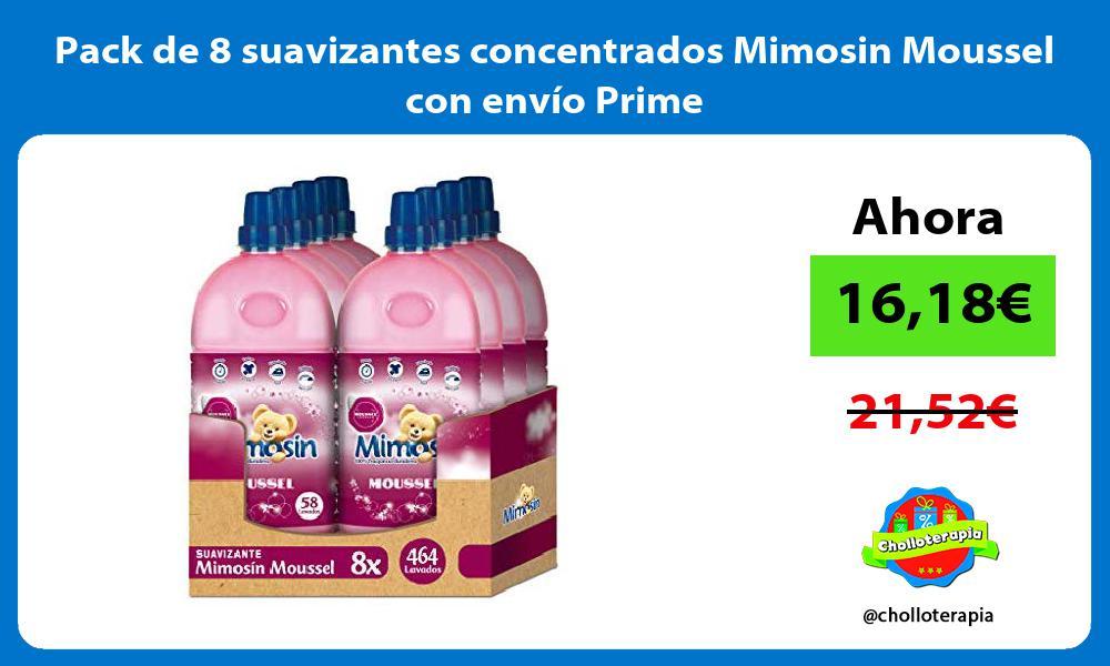 Pack de 8 suavizantes concentrados Mimosin Moussel con envío Prime