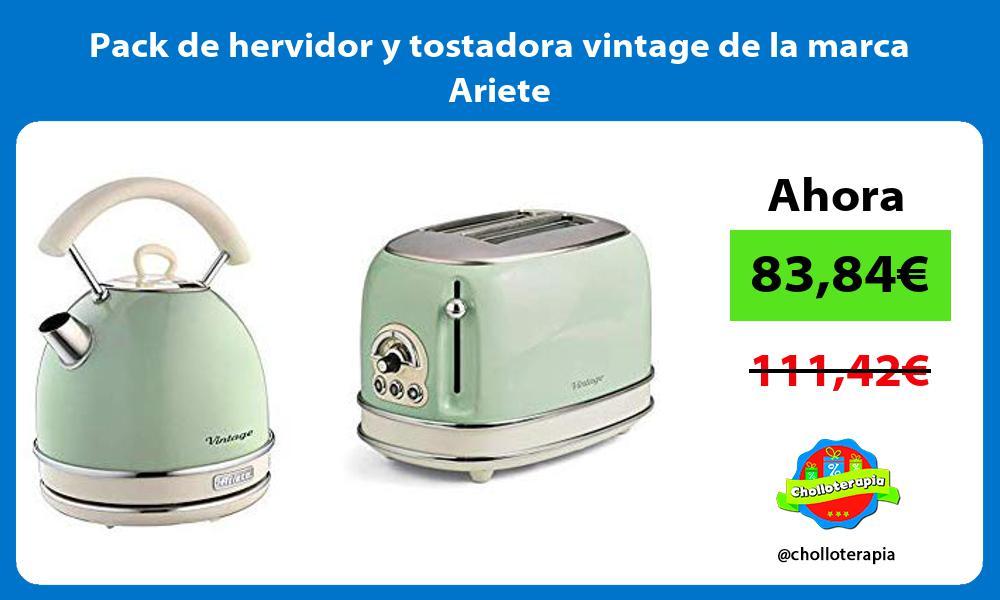 Pack de hervidor y tostadora vintage de la marca Ariete
