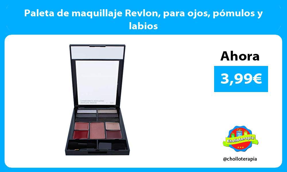 Paleta de maquillaje Revlon para ojos pómulos y labios