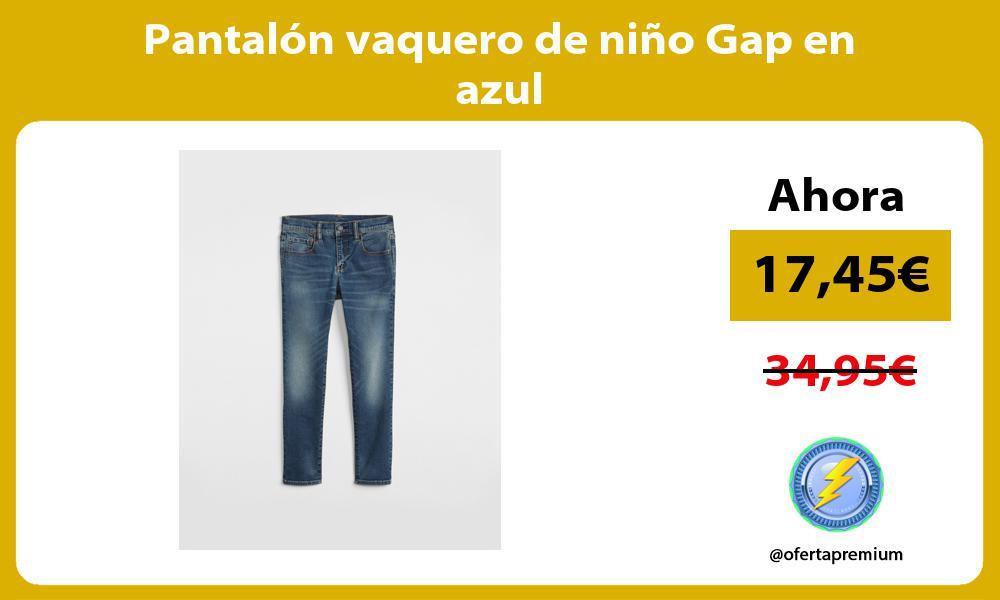 Pantalón vaquero de niño Gap en azul
