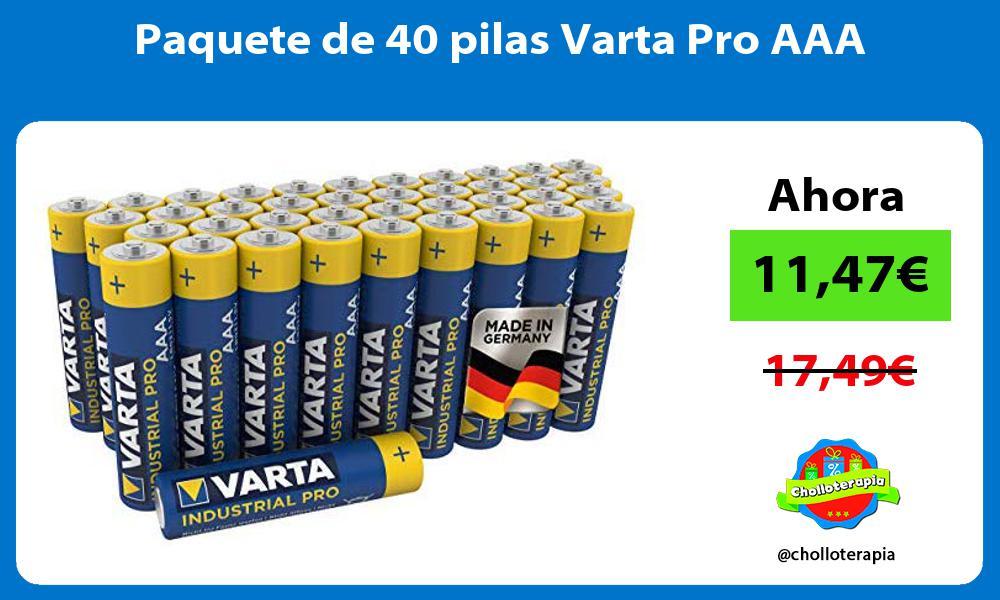 Paquete de 40 pilas Varta Pro AAA