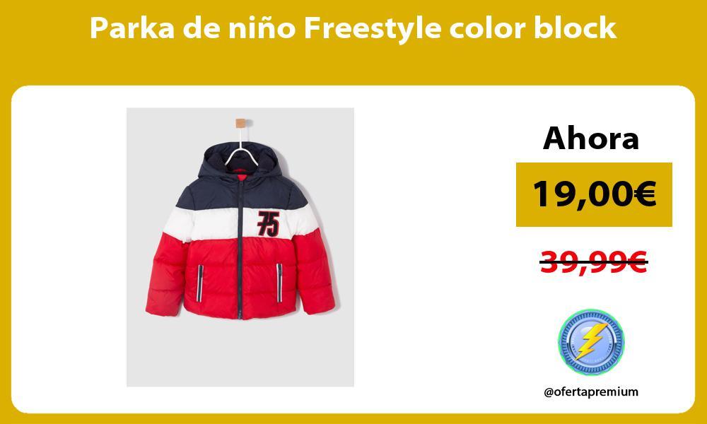 Parka de niño Freestyle color block
