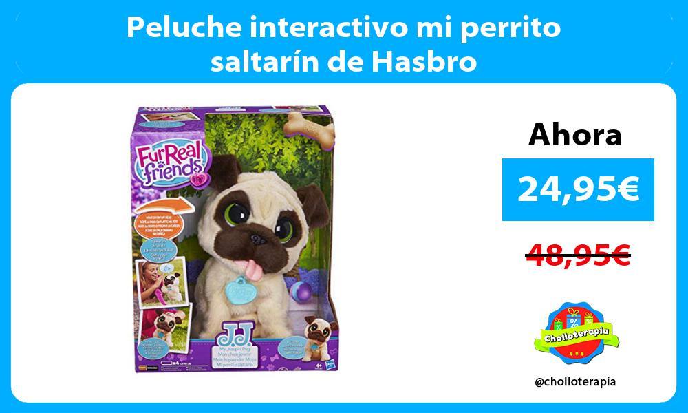 Peluche interactivo mi perrito saltarín de Hasbro