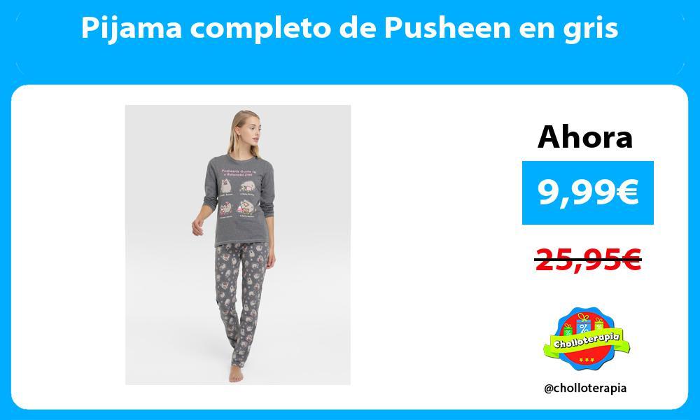 Pijama completo de Pusheen en gris