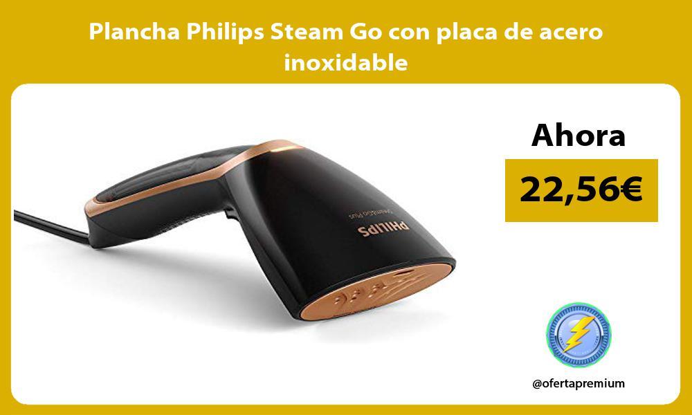 Plancha Philips Steam Go con placa de acero inoxidable