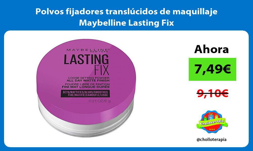 Polvos fijadores translúcidos de maquillaje Maybelline Lasting Fix