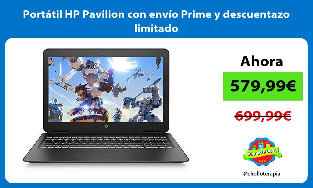 Portátil HP Pavilion con envío Prime y descuentazo limitado