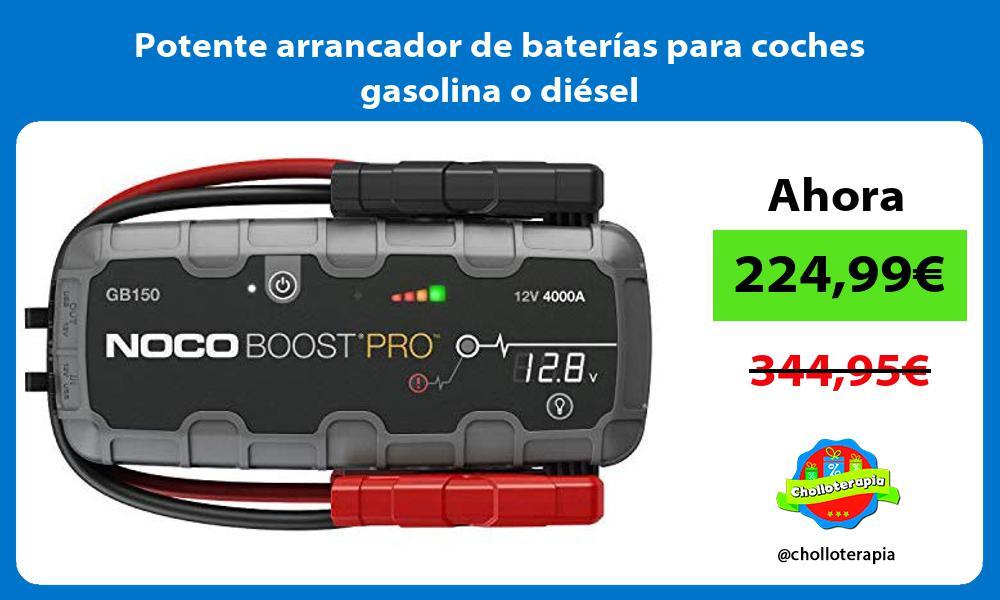 Potente arrancador de baterías para coches gasolina o diésel