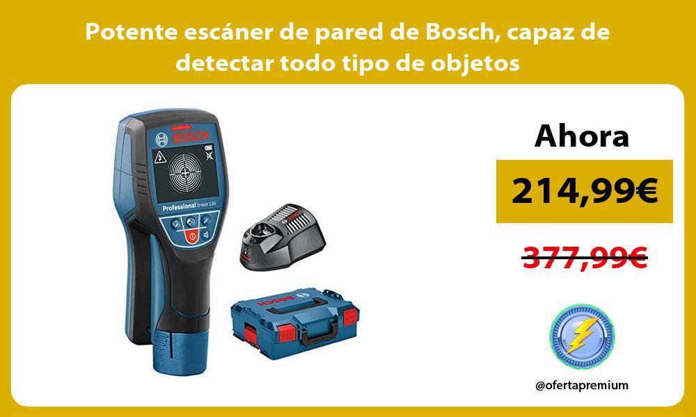 Potente escáner de pared de Bosch capaz de detectar todo tipo de objetos