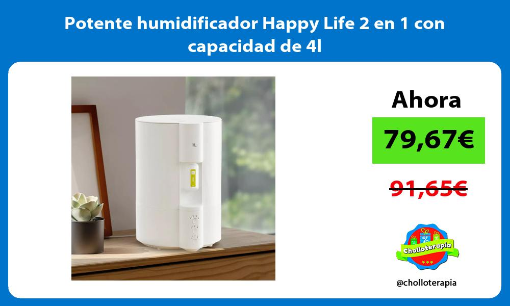 Potente humidificador Happy Life 2 en 1 con capacidad de 4l