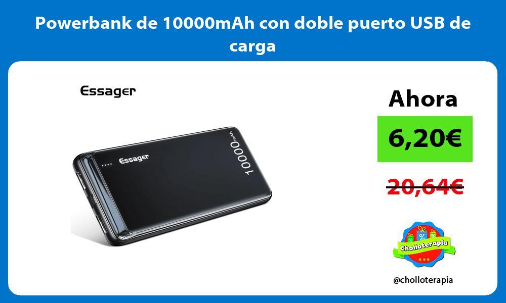 Powerbank de 10000mAh con doble puerto USB de carga