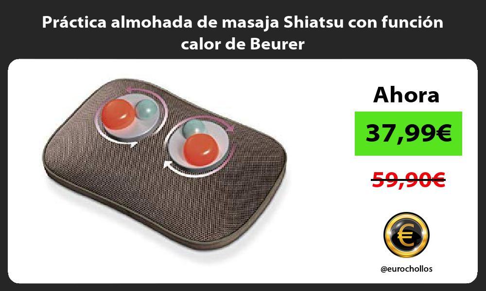 Práctica almohada de masaja Shiatsu con función calor de Beurer