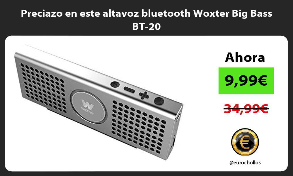 Preciazo en este altavoz bluetooth Woxter Big Bass BT 20