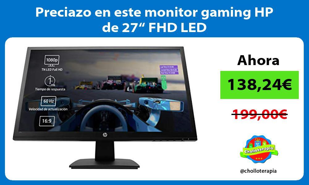 """Preciazo en este monitor gaming HP de 27"""" FHD LED"""