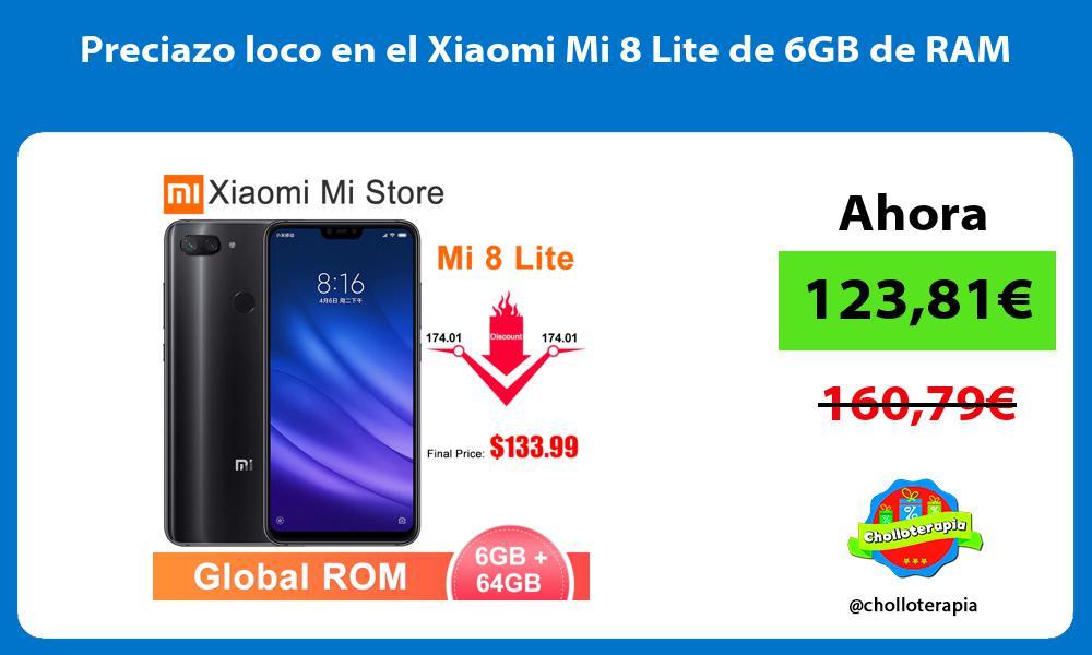 Preciazo loco en el Xiaomi Mi 8 Lite de 6GB de RAM