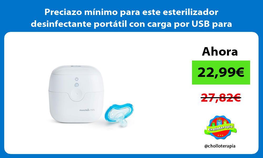 Preciazo mínimo para este esterilizador desinfectante portátil con carga por USB para chupetes