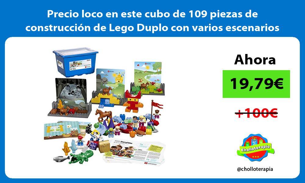 Precio loco en este cubo de 109 piezas de construcción de Lego Duplo con varios escenarios