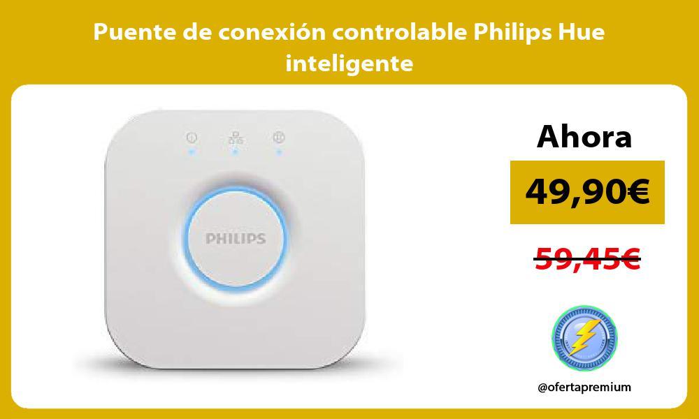 Puente de conexión controlable Philips Hue inteligente