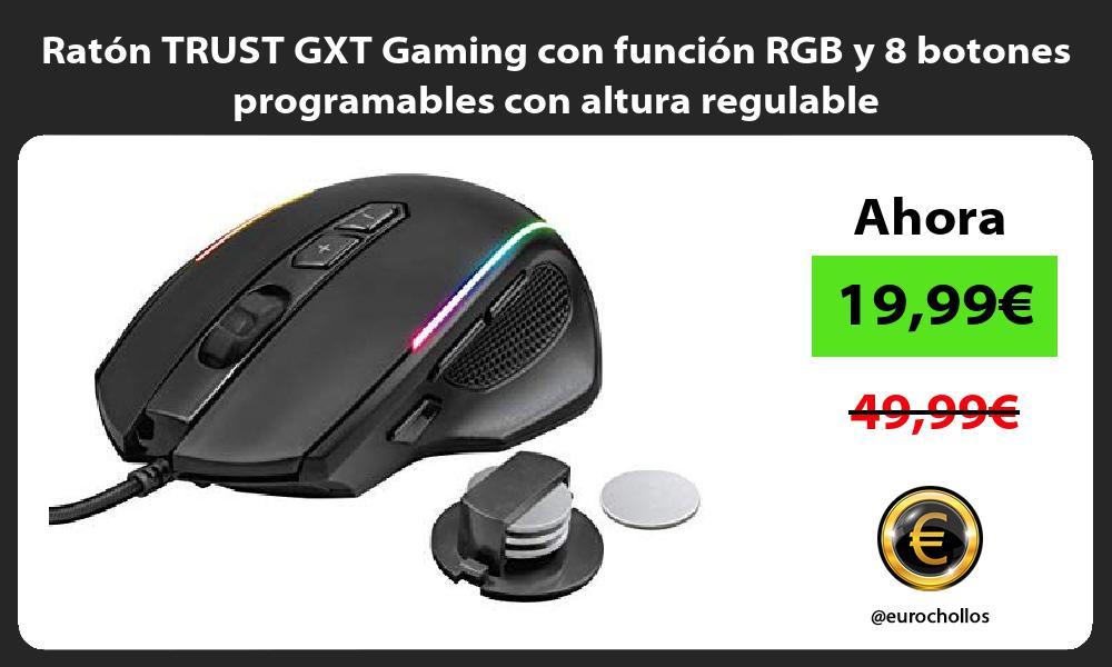 Ratón TRUST GXT Gaming con función RGB y 8 botones programables con altura regulable