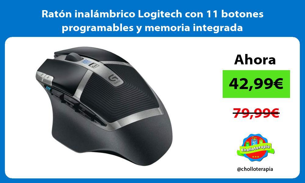 Ratón inalámbrico Logitech con 11 botones programables y memoria integrada
