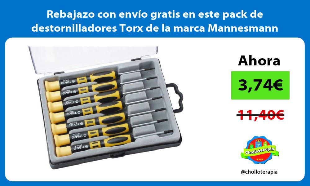 Rebajazo con envío gratis en este pack de destornilladores Torx de la marca Mannesmann