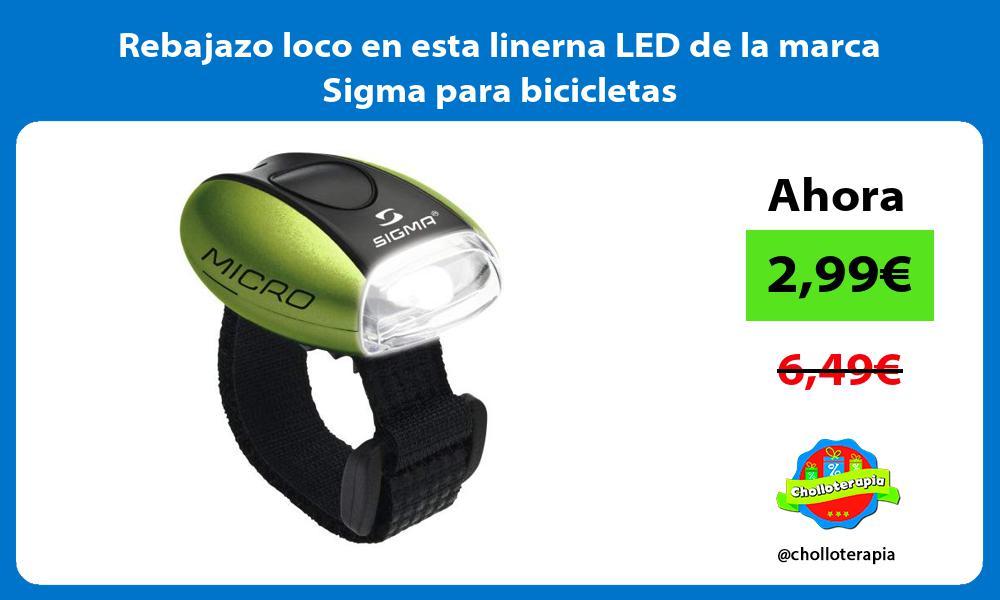 Rebajazo loco en esta linerna LED de la marca Sigma para bicicletas