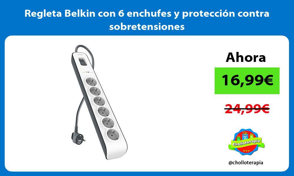 Regleta Belkin con 6 enchufes y protección contra sobretensiones