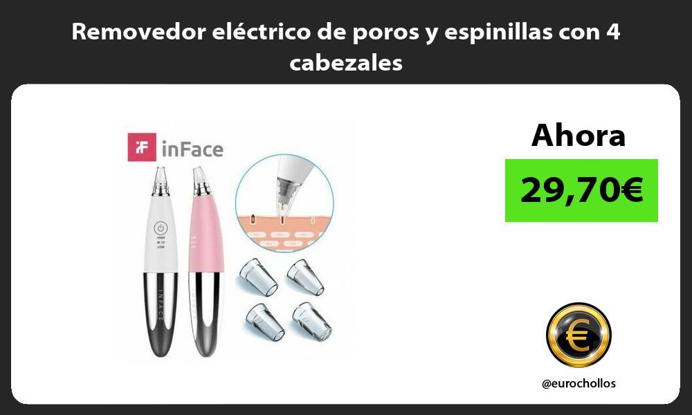 Removedor eléctrico de poros y espinillas con 4 cabezales
