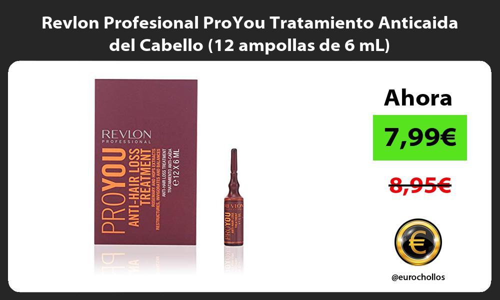 Revlon Profesional ProYou Tratamiento Anticaida del Cabello 12 ampollas de 6 mL