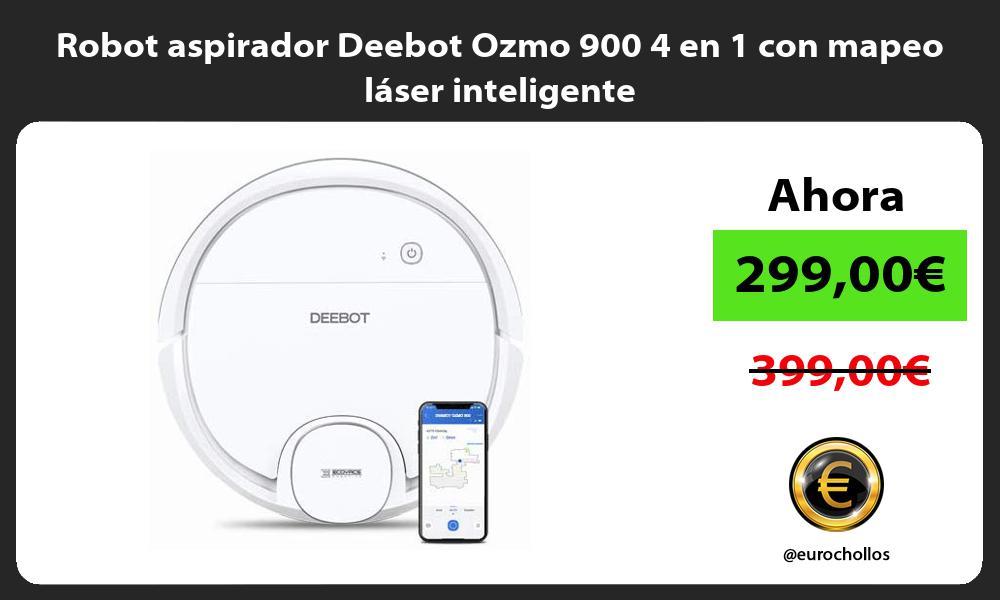 Robot aspirador Deebot Ozmo 900 4 en 1 con mapeo láser inteligente