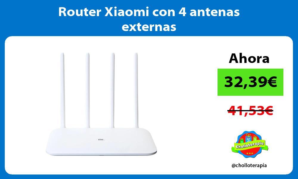 Router Xiaomi con 4 antenas externas