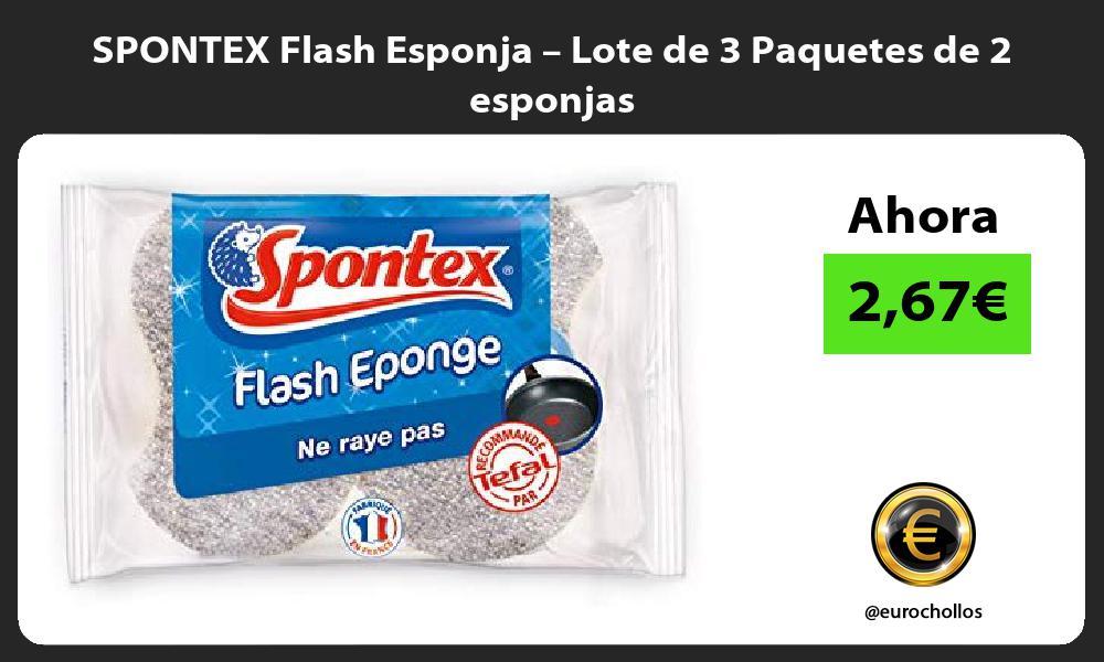 SPONTEX Flash Esponja – Lote de 3 Paquetes de 2 esponjas