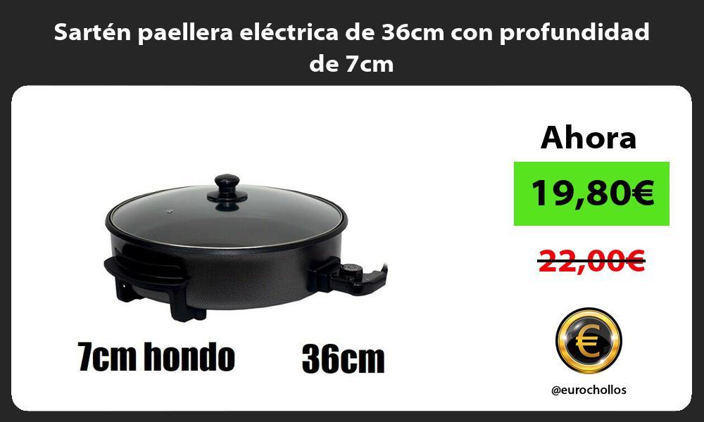 Sartén paellera eléctrica de 36cm con profundidad de 7cm