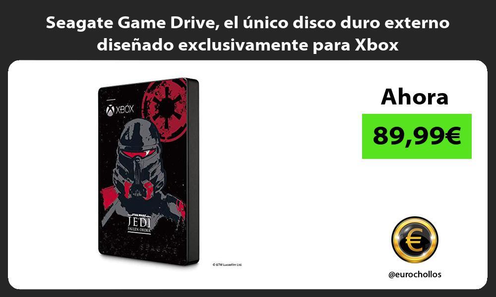 Seagate Game Drive el único disco duro externo diseñado exclusivamente para Xbox