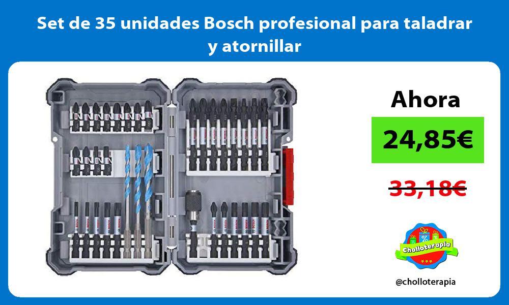 Set de 35 unidades Bosch profesional para taladrar y atornillar