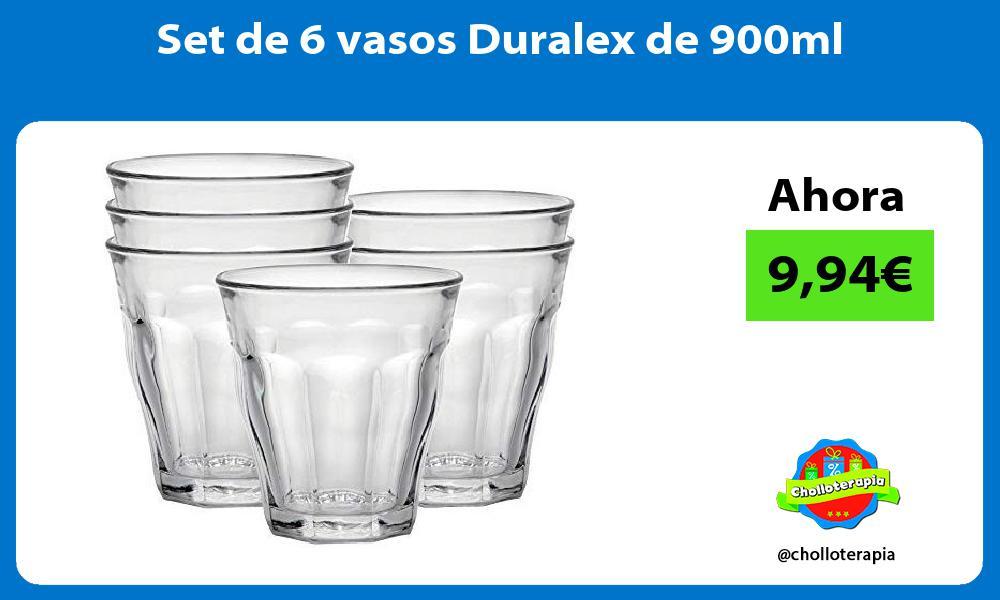 Set de 6 vasos Duralex de 900ml