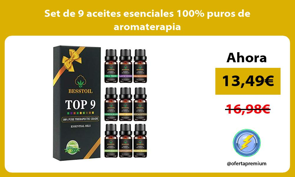 Set de 9 aceites esenciales 100 puros de aromaterapia