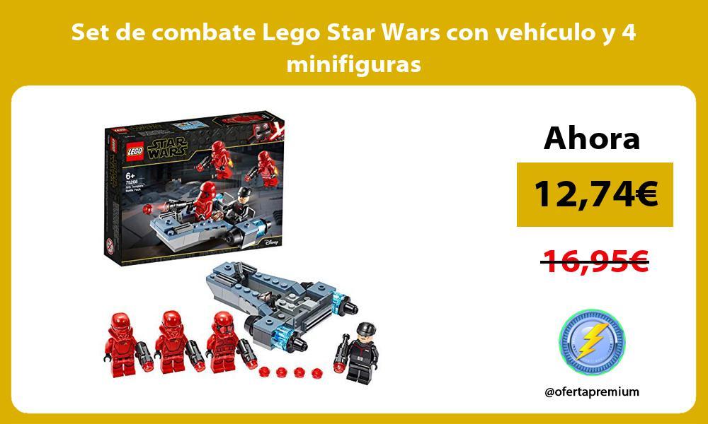 Set de combate Lego Star Wars con vehículo y 4 minifiguras