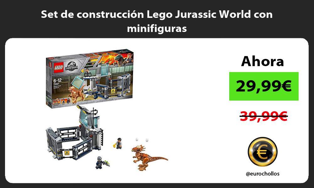 Set de construcción Lego Jurassic World con minifiguras