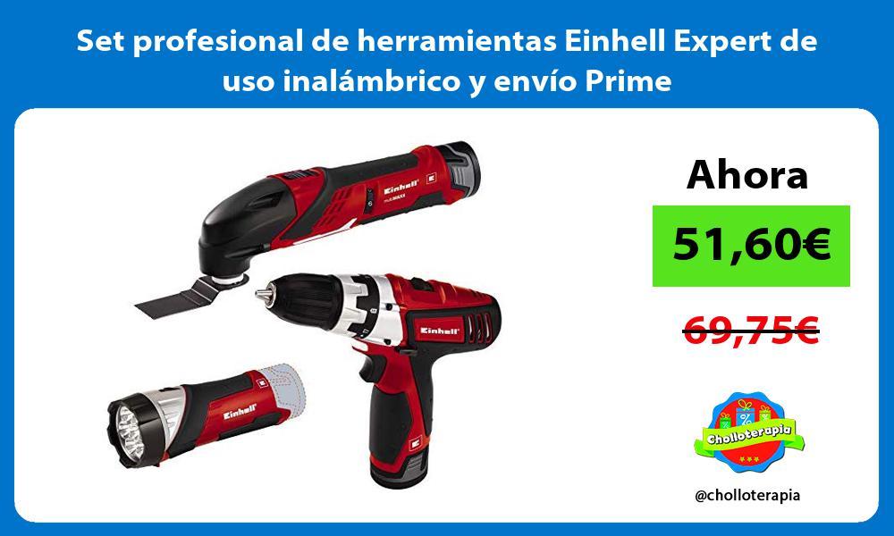 Set profesional de herramientas Einhell Expert de uso inalámbrico y envío Prime