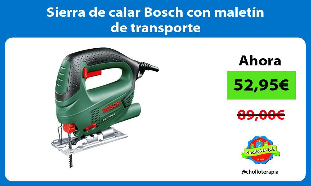 Sierra de calar Bosch con maletín de transporte