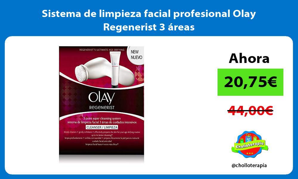 Sistema de limpieza facial profesional Olay Regenerist 3 áreas