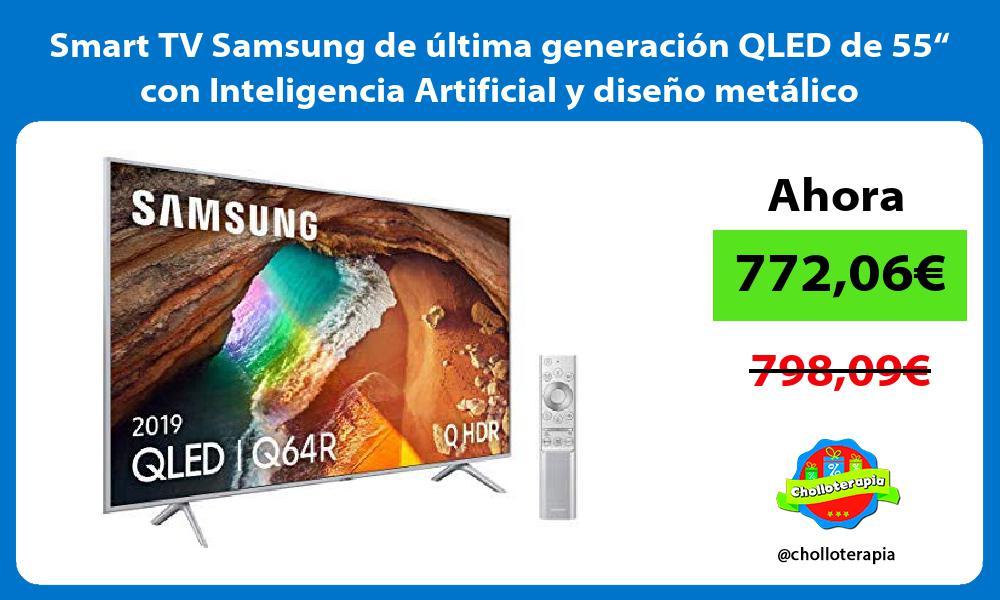 """Smart TV Samsung de última generación QLED de 55"""" con Inteligencia Artificial y diseño metálico"""