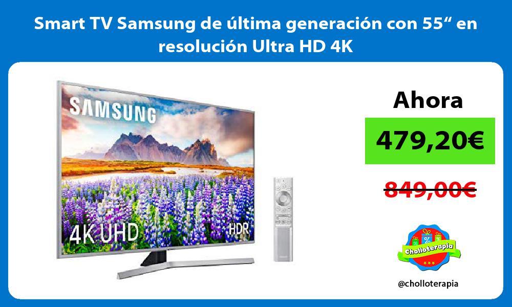 """Smart TV Samsung de última generación con 55"""" en resolución Ultra HD 4K"""