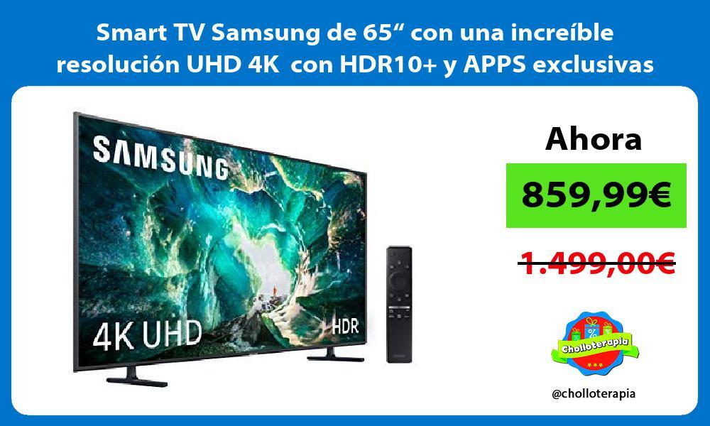 """Smart TV Samsung de 65"""" con una increíble resolución UHD 4K con HDR10 y APPS exclusivas"""