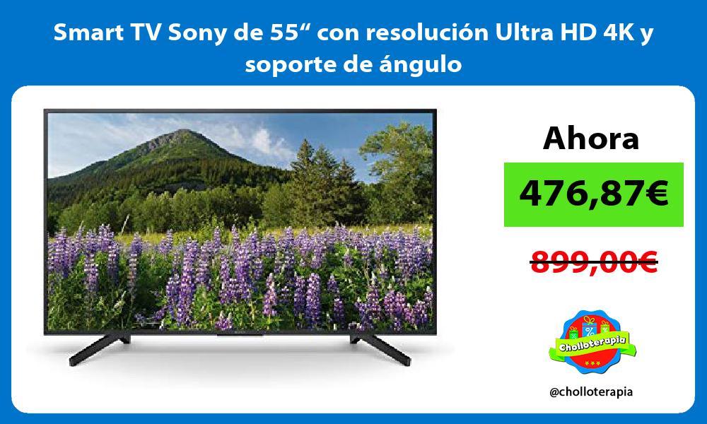 """Smart TV Sony de 55"""" con resolución Ultra HD 4K y soporte de ángulo"""