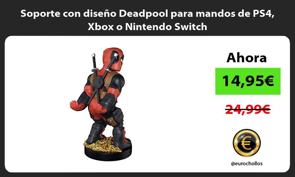 Soporte con diseño Deadpool para mandos de PS4 Xbox o Nintendo Switch